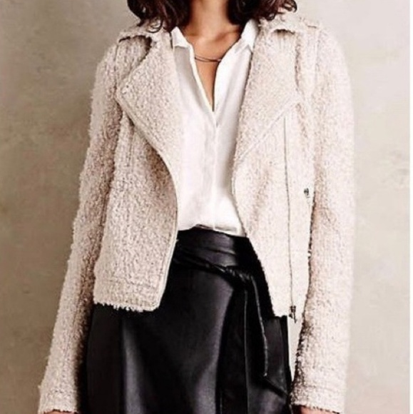Anthropologie Jackets & Blazers - Elevenses S boucle moto jacket